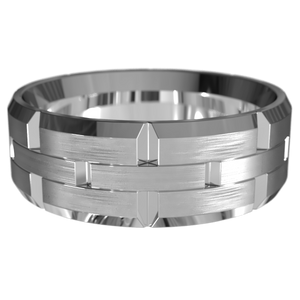 The 'Christos' Mens Wedding Ring - Gemma Stone  ABN:51 621 127 866