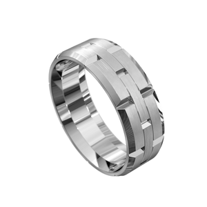 The 'Christos' Mens Wedding Ring - Gemma Stone Jewellery