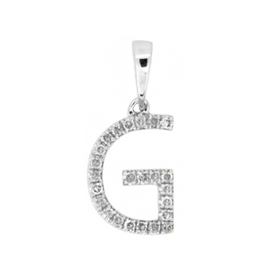 Diamond Initial Pendants with Chain.