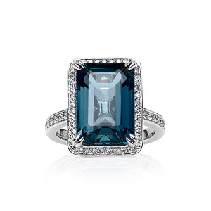 London Blue Topaz & Diamond 'Gordana' Ring - Gemma Stone  ABN:51 621 127 866