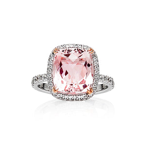 Morganite & Diamond 'Brigitte' Ring - Gemma Stone  ABN:51 621 127 866