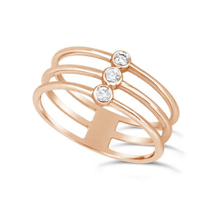 Diamond Bezel TRIO Ring - Gemma Stone  ABN:51 621 127 866