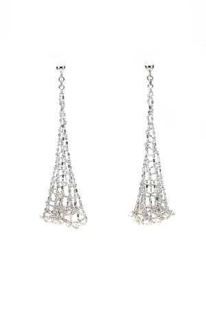 Silver & Pearl 'Becca' Earrings - Gemma Stone  ABN:51 621 127 866