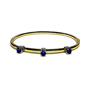 Gold Plated,  Blue Sapphire 'Movida' Bangle - Gemma Stone  ABN:51 621 127 866