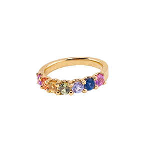 Yellow Gold and Coloured Sapphire Ring - Gemma Stone  ABN:51 621 127 866