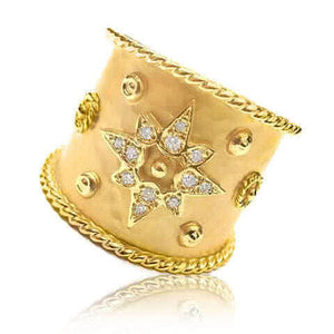 14ct Yellow Gold and Diamond Magesto Ring - Gemma Stone Jewellery