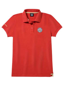 Women's Polo, Red/Gold