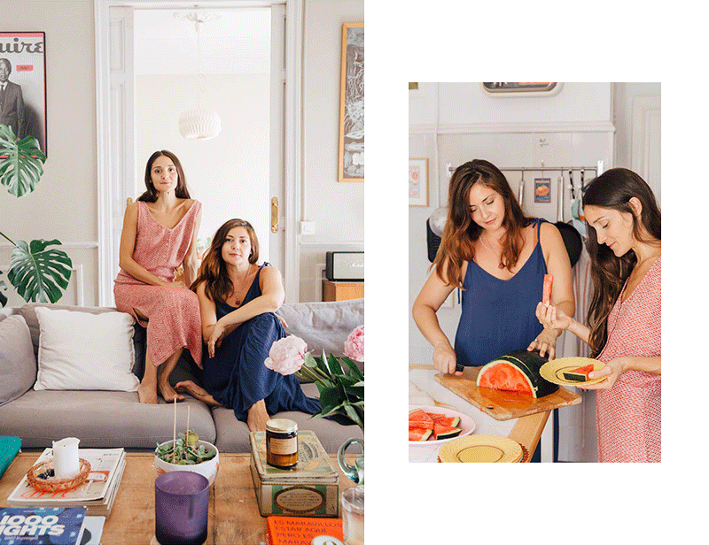 Mery and Mili wearing Sunad at home