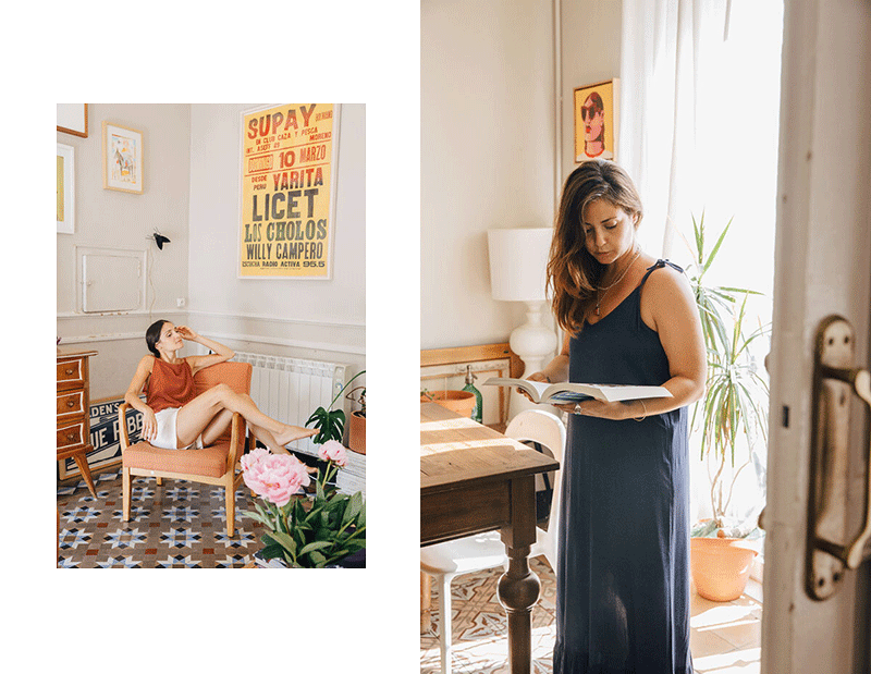 Mili and Mery wearing Sunad at home.