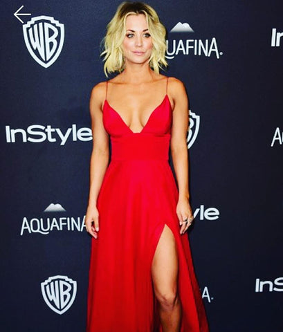 Kaley Cuoco Golden Globes 2016 InStyle Party