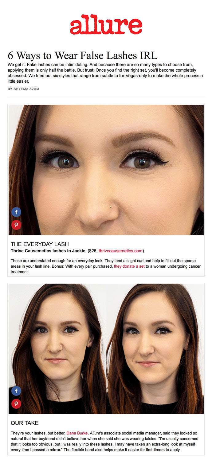 allure - 6 Ways to Wear False Lashes IRL