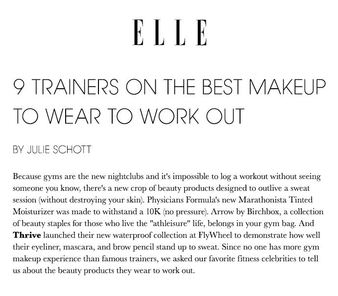 Elle - 9 Trainers On The Best Makeup To Wear To Work Out