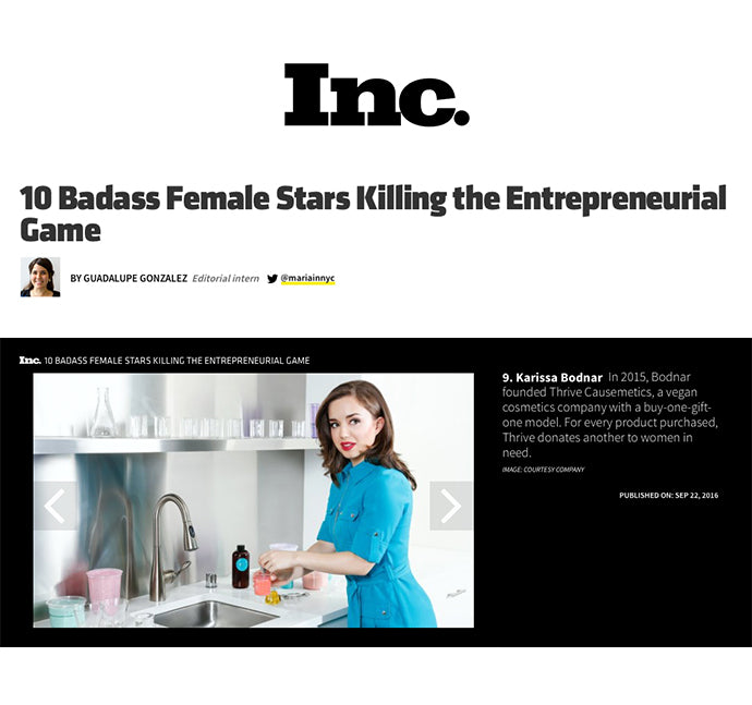 Inc. - 10 Badass Female Stars Killing the Entrepreneurial Game