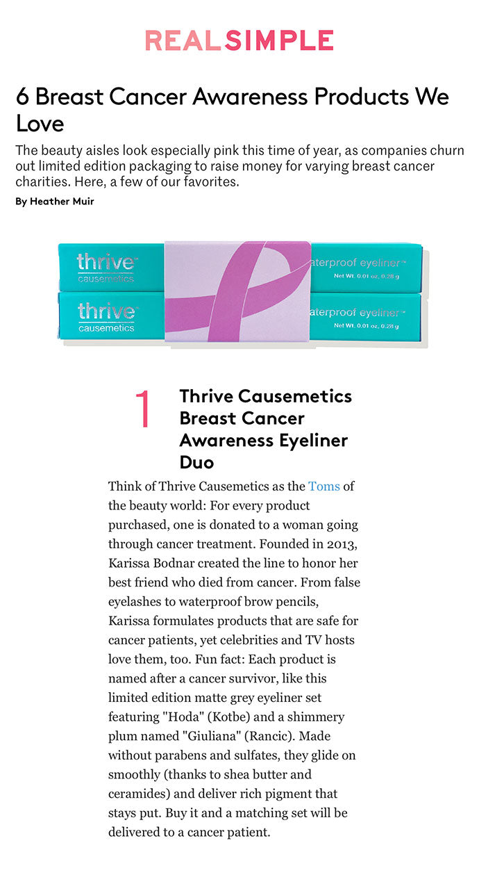 Real Simple - 6 Breast Cancer Awareness Products We Love
