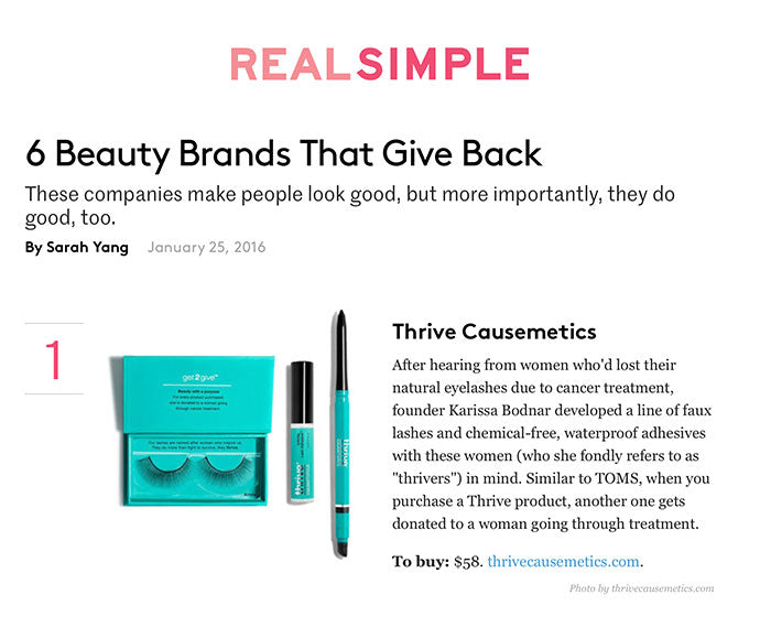 Real Simple - 6 Beauty Brands That Give Back