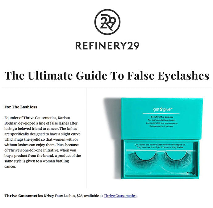 Refinery29 - The Ultimate Guide To False Eyelashes