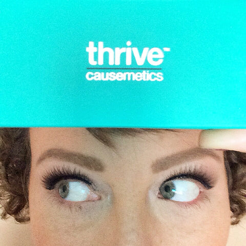 Thrive Causemetics Stephanie Madsen wearing Jackie Faux Eyelashes Vegan Silk
