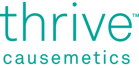 Thrive Causemetics offers luxury high-performance cosmetics. For every product purchased, one is donated to help a woman thrive.