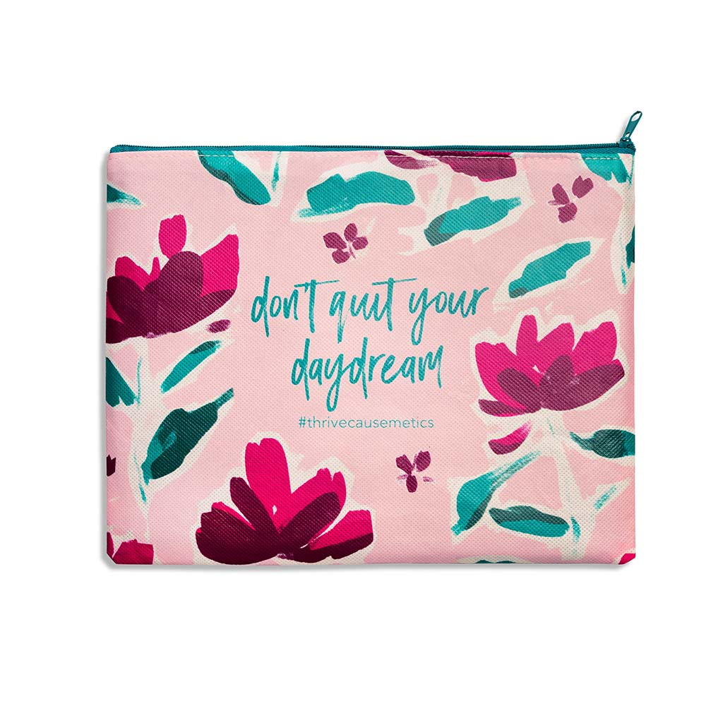 Pink Floral Makeup Bag product image