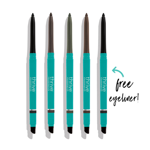 Vegan waterproof eyeliner pencils