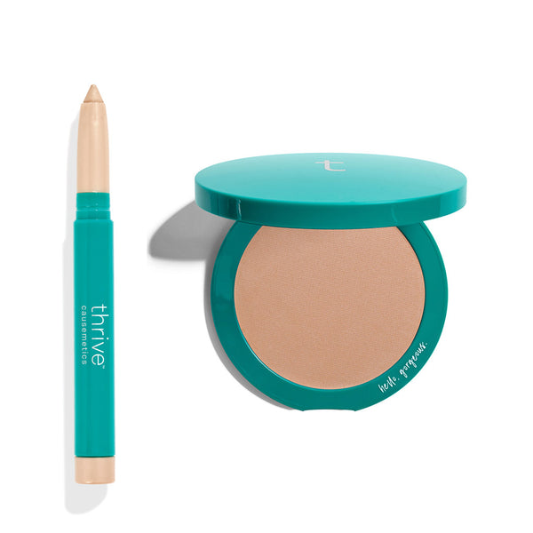 Vegan Waterproof Brilliant Eye Brightener + Bronzing Powder