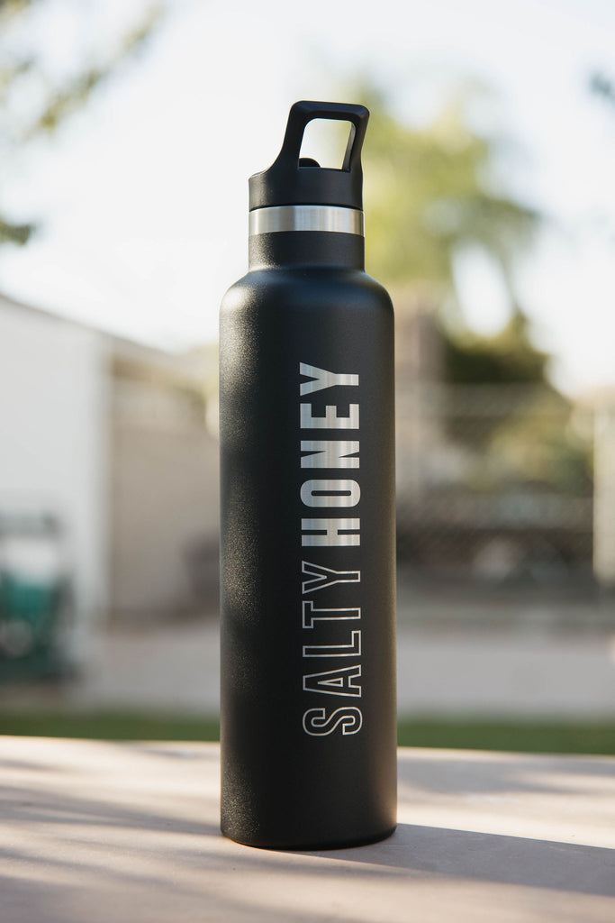 SLIM WATER BOTTLE in Matte Black