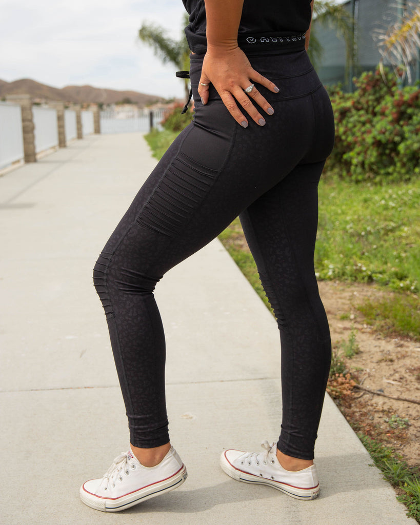 MOTO LEGGING in BLACK LEOPARD