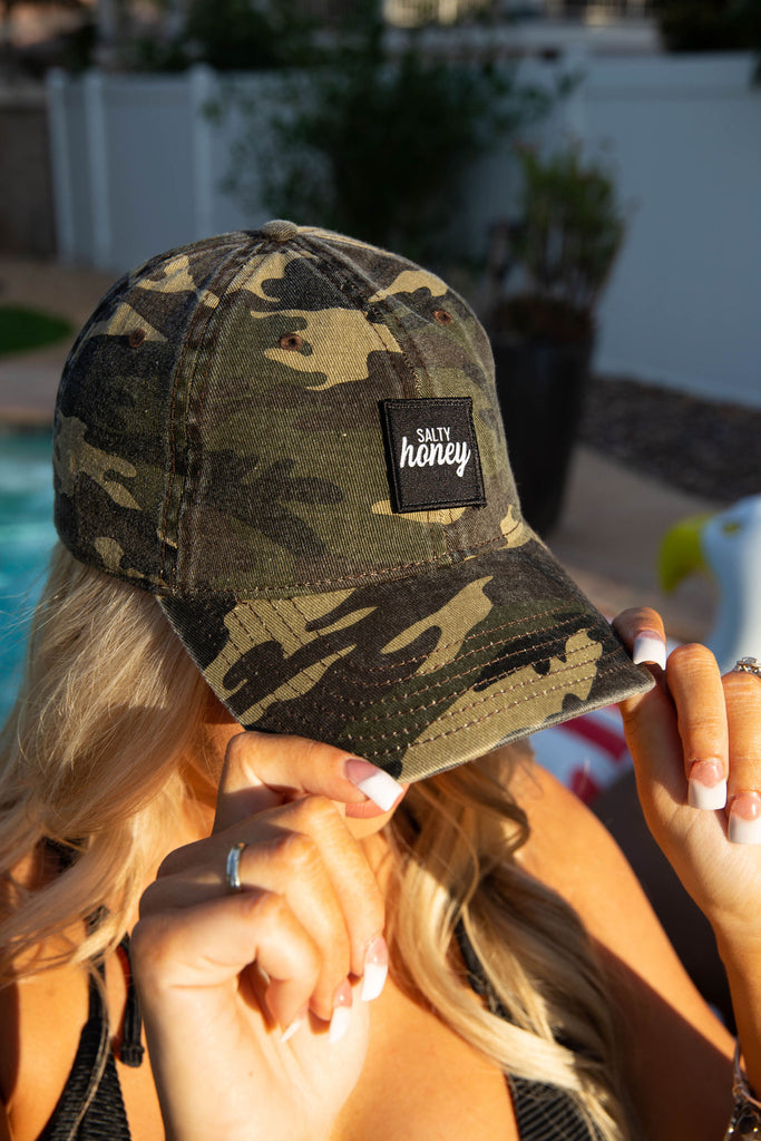 Dad Hat in Vintage Camo