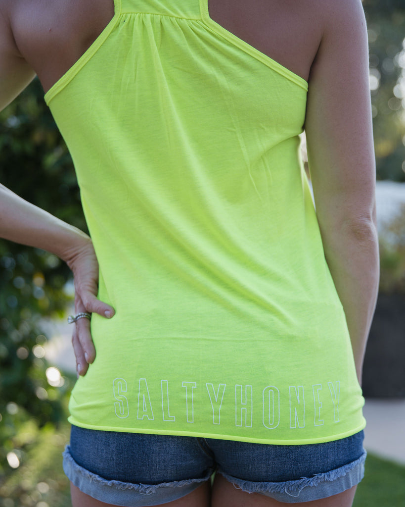 Racerback Tank in Neon Yellow