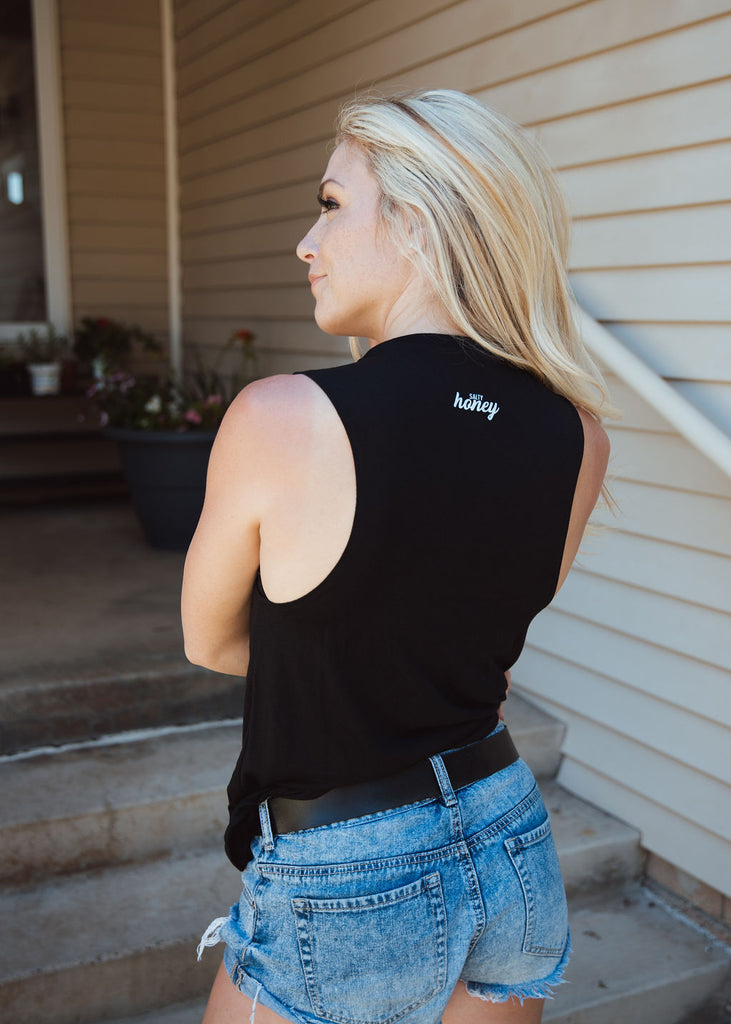 Rooted tank in black