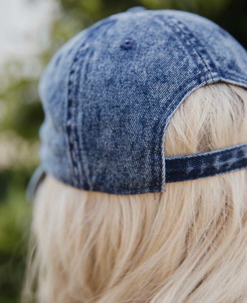 Dad Hat in vintage denim