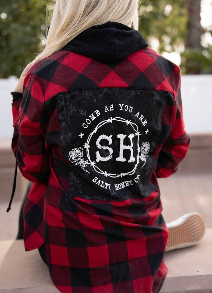 FLANNEL in black/red