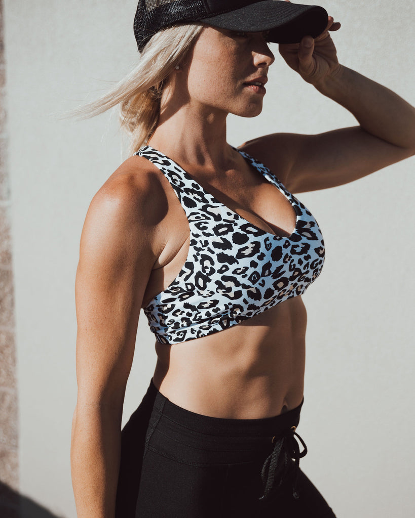 V-NECK BRA in leopard