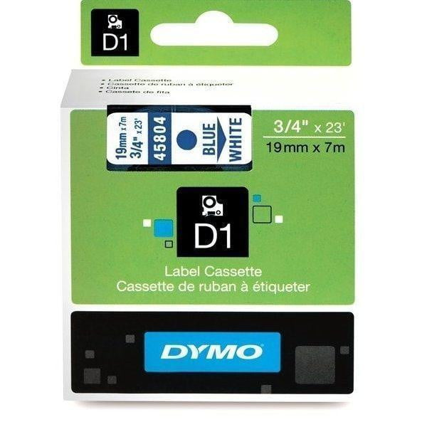 DYMO D1 LABEL 19mm x 7m - BLUE on WHITE 45804