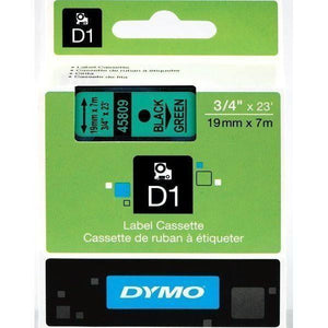 DYMO D1 LABEL 19mm x 7m - Black on Green 45809