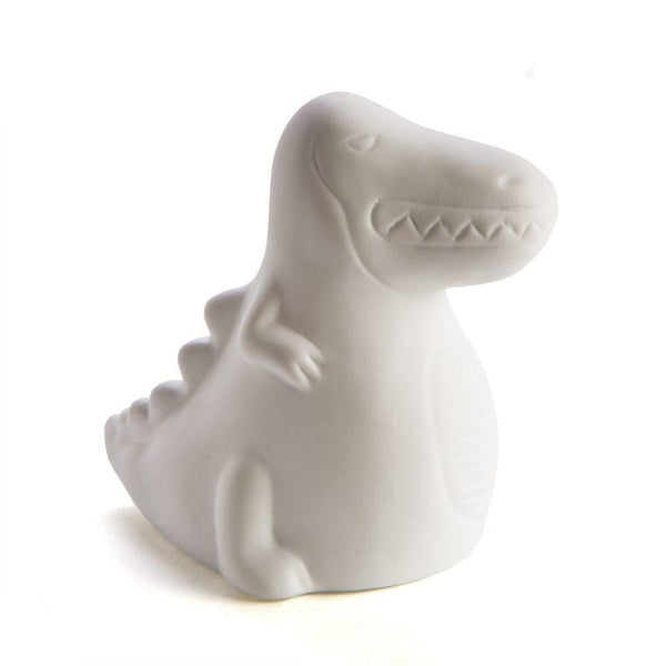 Dino Dinosaur White Ceramic LED Night Light Lamp