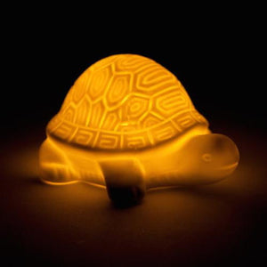Turtle White Ceramic LED Night Light Lamp