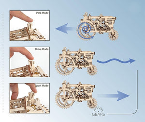 "Ugears 70003 Mechanical Wooden 3D Puzzle / Model Functional ""Tractor"""
