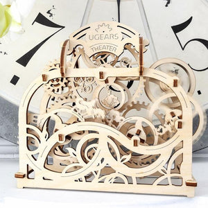 "UGears 70002 Mechanical Wooden 3D Puzzle / Model Functional ""Mechanical Theatre"""