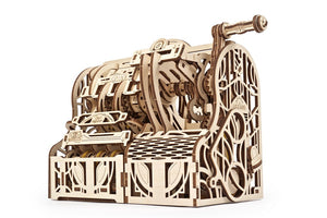 UGears 70136 Mechanical Wooden 3D Puzzle / Model Cash Register