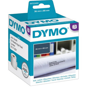 DYMO Address Labels 89mm x 36mm 99012 / S0722390 - 400/450/DUO/TWIN Label