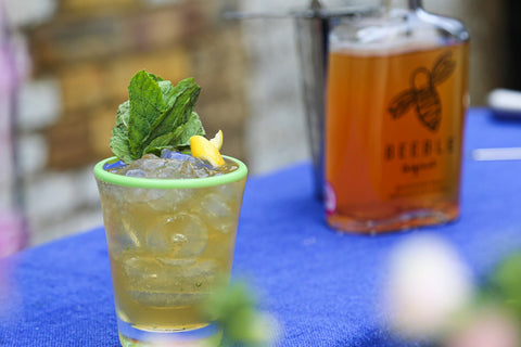 Mint Julep Cocktail with Beeble Honey Whisky