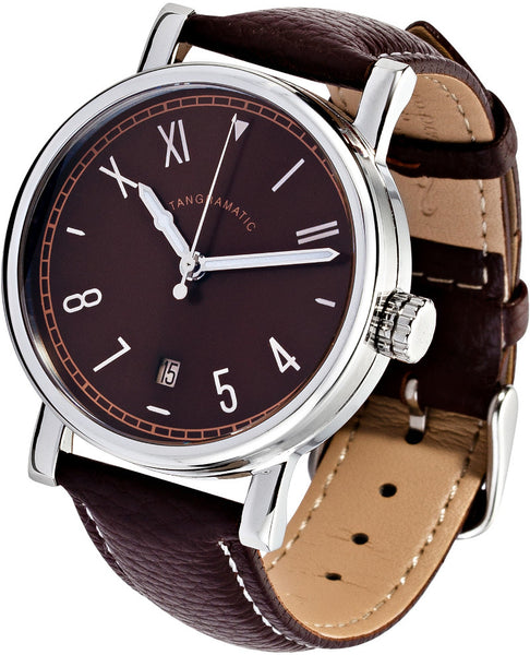 39mm California Brown Automatic Watch