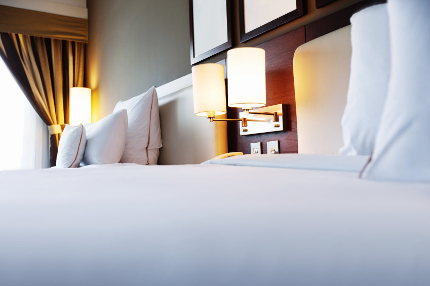 microfiber sheets, bed with white sheets and pillows