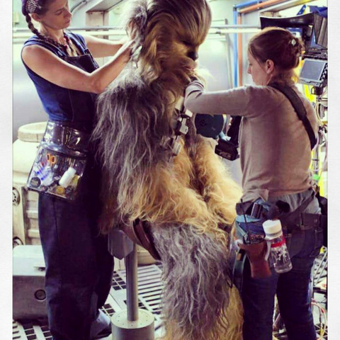 Makeup Artists on set using their Linear Standby Belts