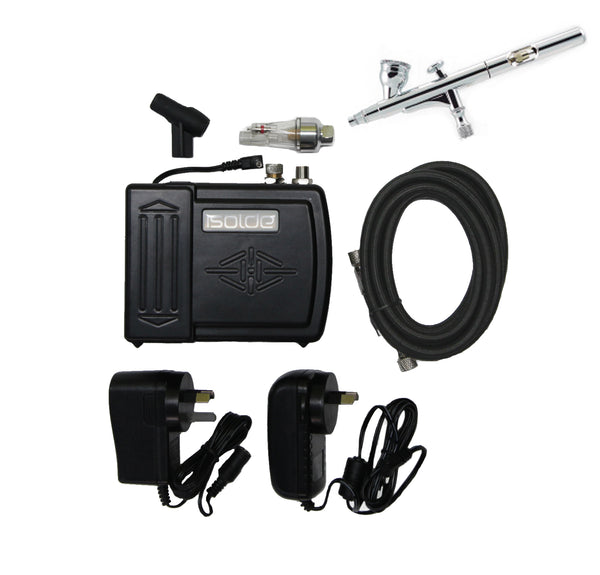 Isolde Battery Compressor & Airbrush Set