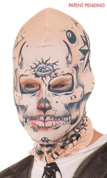Faux Real Tattoo Face Mask