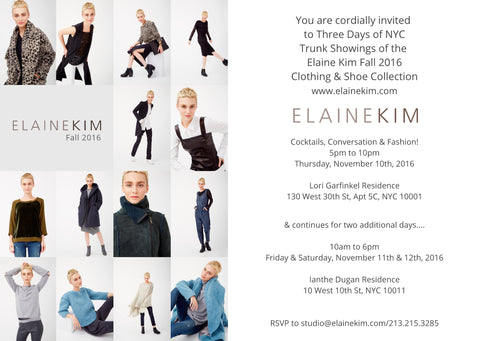 NYC Trunk Show Fall/Winter 2016 Collection