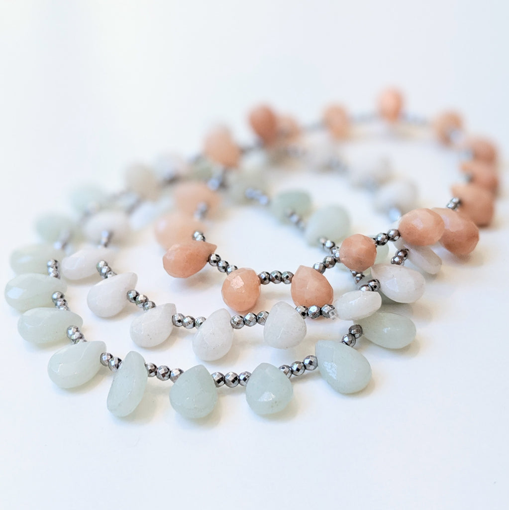 Saga Amazonite Green Bracelet by Elaine Kim