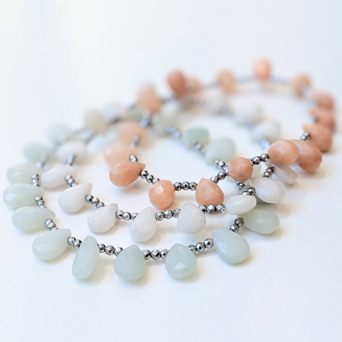 Saga Amazonite Green Bracelet by Elaine Kim-Jewelry-Elaine Kim Studio-Elaine Kim Studio-travel wardrobe-office casual-independent designer